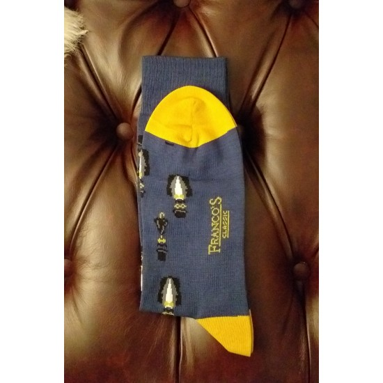 Franco's Classic Bust With Top Hat Socks - Blue